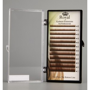 Royal Eyebrow Extensions Mix 0.15mm - Maro inchis